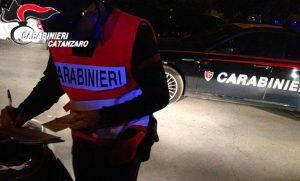 Controlli dei carabinieri nel catanzarese, denunce e sanzioni