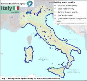 La qualità delle acque del Tirreno e dello Jonio meridionali nella stagione balneare 2021
