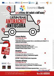Economie di libertà: la Carovana antiracket e antiusura arriva in Calabria
